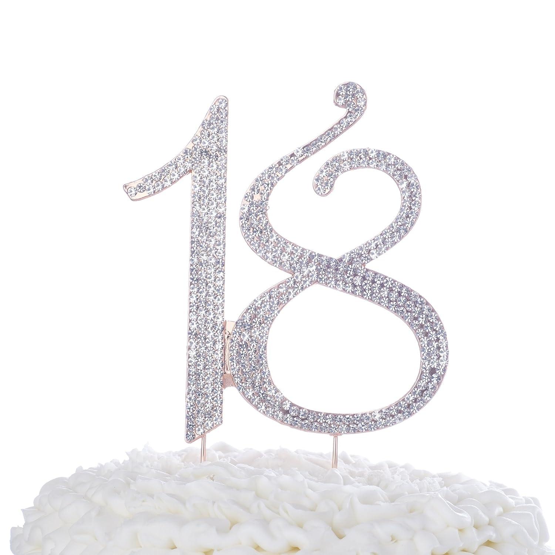 Amazon Ella Celebration 18 Cake Topper For 18th Birthday Or