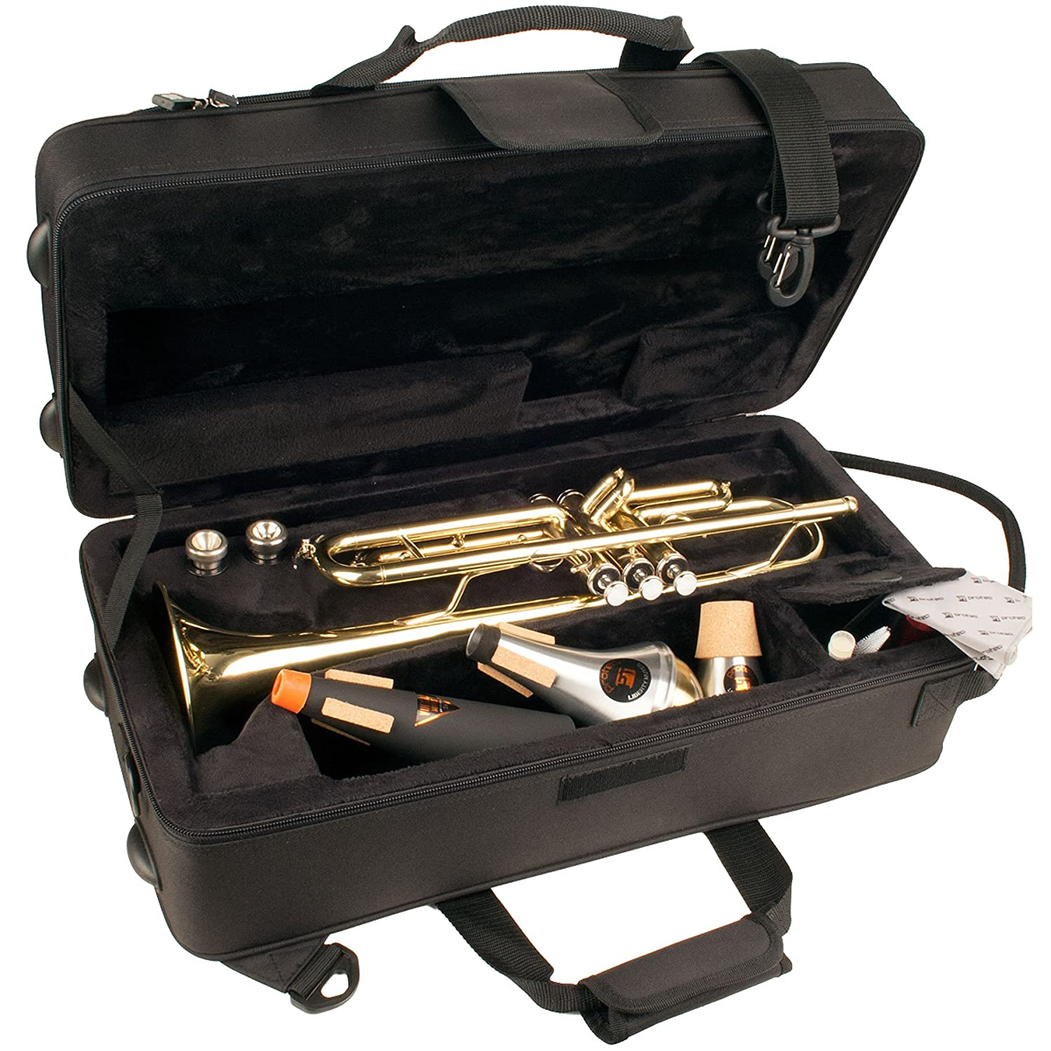 Protec Trumpet Lightweight MAX Case with Mute Section, Black MX301