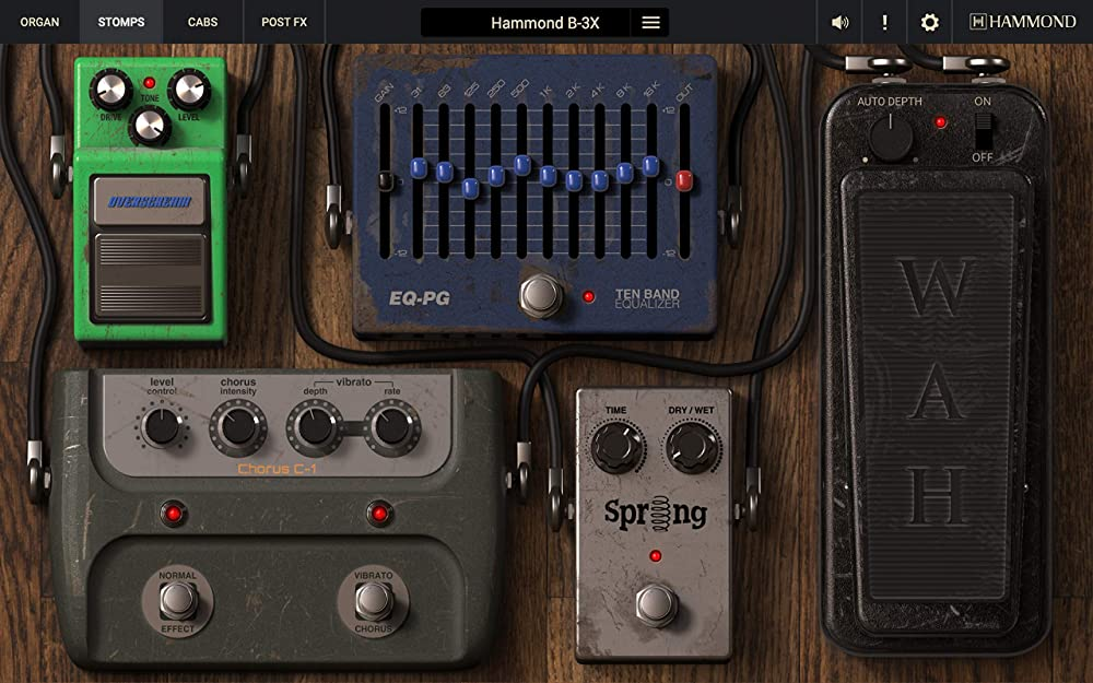Hammond B-3X:エフェクト