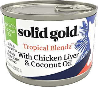 product image for Solid Gold Tropical Blendz Pate with Coconut Oil - Grain-Free Wet Cat Food with Real Chicken Liver - 6oz (16 Count)
