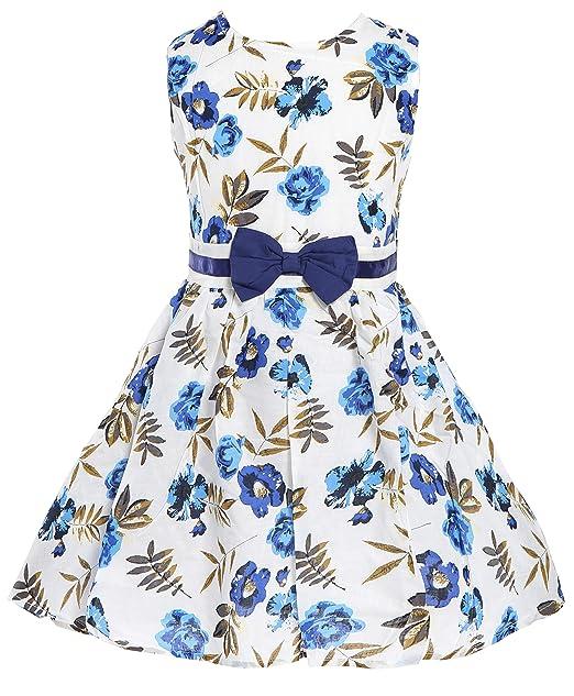 63b1e1dd6455 Little Girls Dress Country Blue Rose Dresses Summer Swing Party Dresses for  Baby Girls 2 3