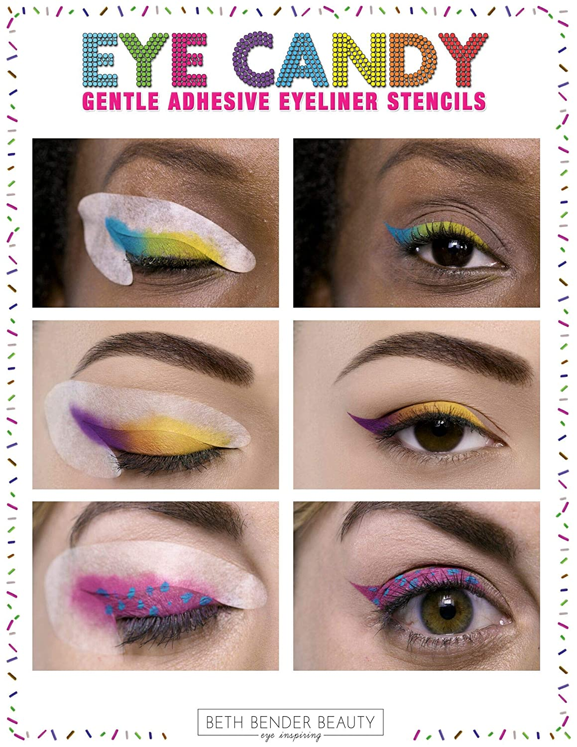 photograph regarding Eyeliner Stencil Printable known as beth bender elegance Eye Sweet Eyeliner Stencil Pads - For