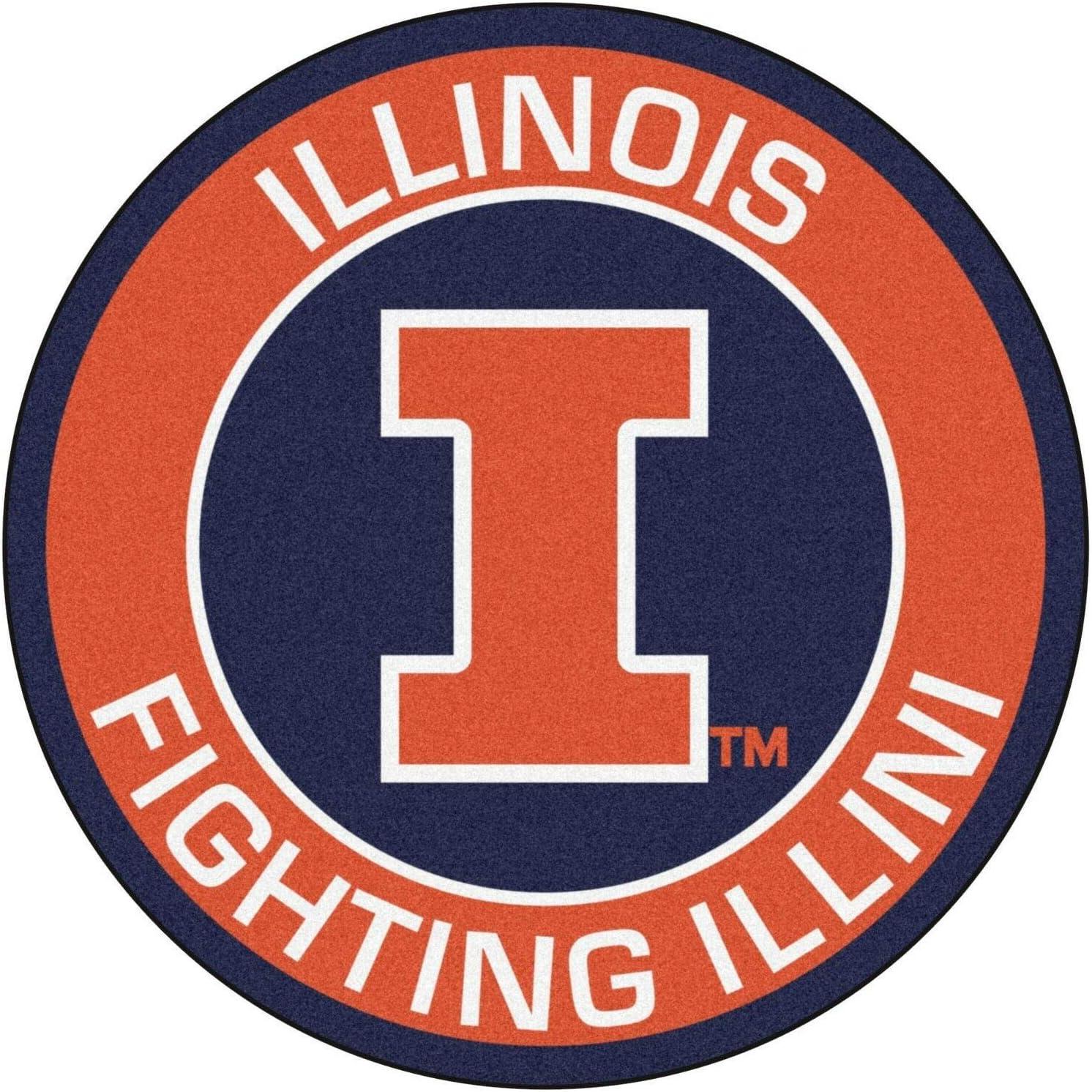 Illinois Illini Stickers (Any Size) Illinois Fighting Illini Decal Vinyl for car bamper, hemlet, Laptop, tumblers, Window Team Logo