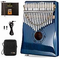 Moozica 17 Keys Kalimba Thumb Piano, Tone Wood Marimba with Professional Kalimba Case and Learning Instruction (K17BLP…