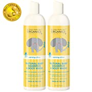 Organic Baby Shampoo & Body Wash – Tear-Free Shampoo for Toddlers & Kids – Chemical-Free Natural Body Wash – Made in the USA - Calming Lavender & Citrus Essential Oils Baby Wash & Shampoo 2 in 1 by My