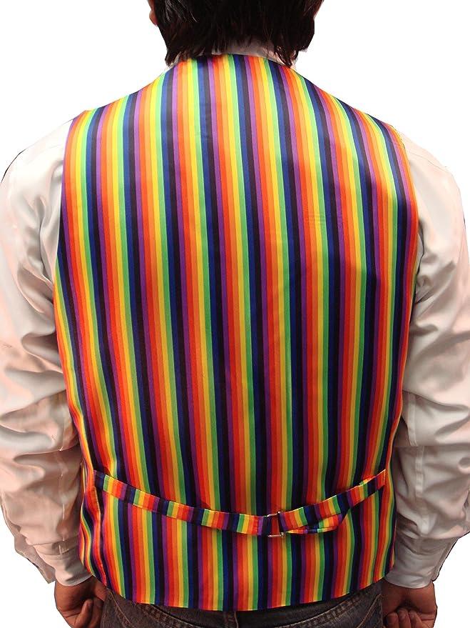 elegance1234 Nuovo da Uomo Rainbow Ottima qualità Gilet