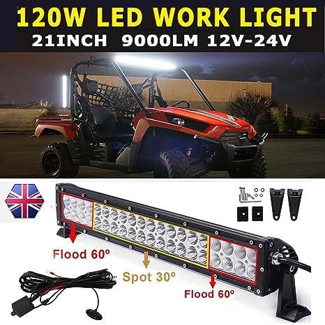 Lámpara tipo barra de luces led de penetración y de profundidad para vehí