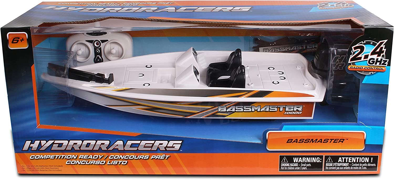 NKOK HydroRacers RC BassMaster Boat White