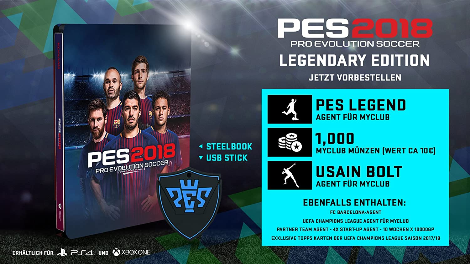 Pes 2018 Legendary Edition Playstation 4 Amazonde Games