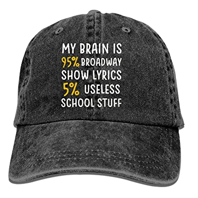 XCOZU Gorra de béisbol, Cerebro es 95% Broadway Ajustable para ...