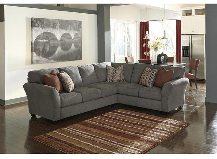 Doralin 2-Piece Sectional in Gray | Nebraska Furniture Mart