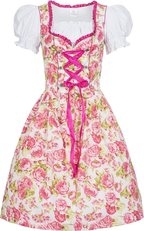Dirndlkette Trachtenkleid Mimi m Marke Gaudi-Leathers Dirndl Set 4 TLG Sch/ürze pink Leuchtend