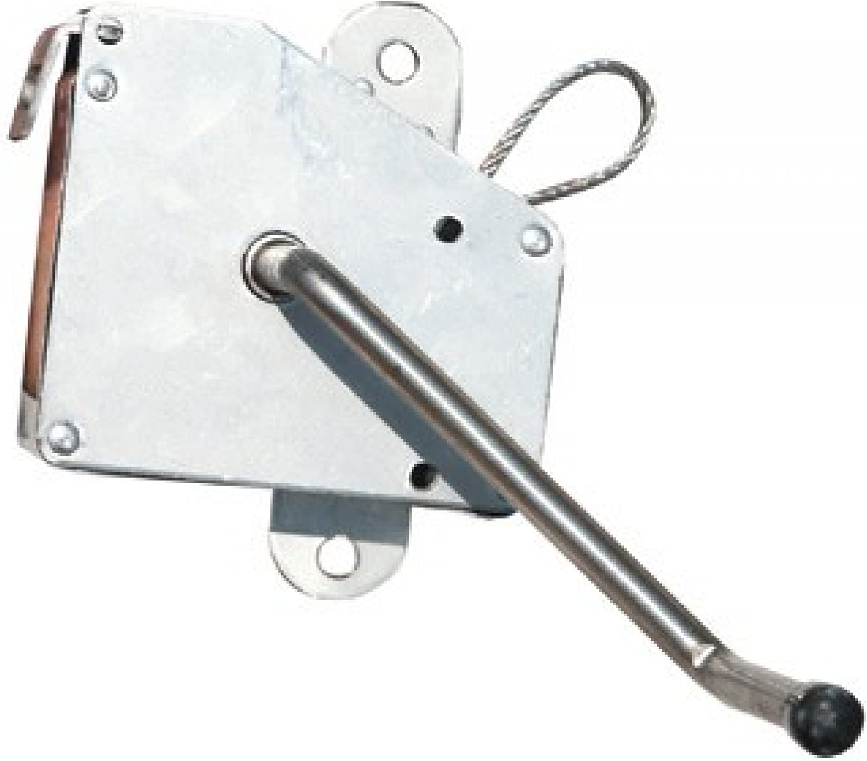 Schneider Kurbel verzinkt mit 3 m Drahtseil für Roste bis 70 cm Schwenkgrill