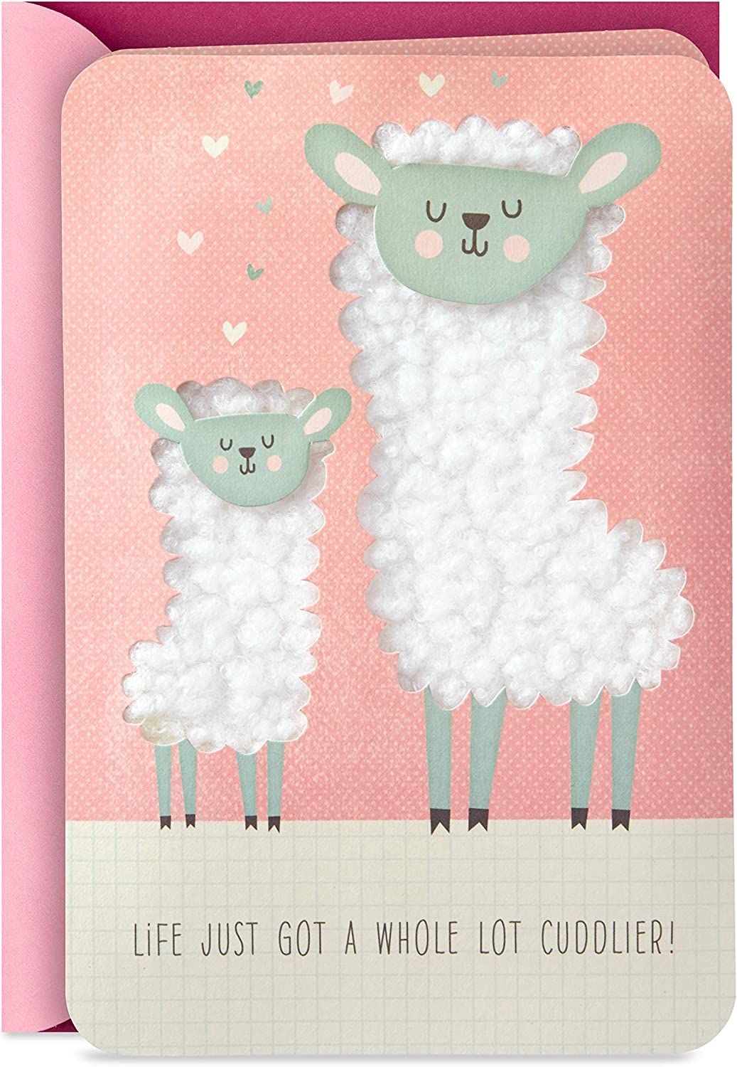 Hallmark Signature New Baby Congratulations Greeting Card, Llamas, A Whole Lot Cuddlier