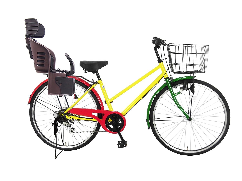 Lupinusルピナス 自転車 26インチ LP-266TD-KNRJ-BR シティサイクル シマノ製外装6段ギア 樹脂製後子乗せブラウン B0797J7WNGラスタカラー