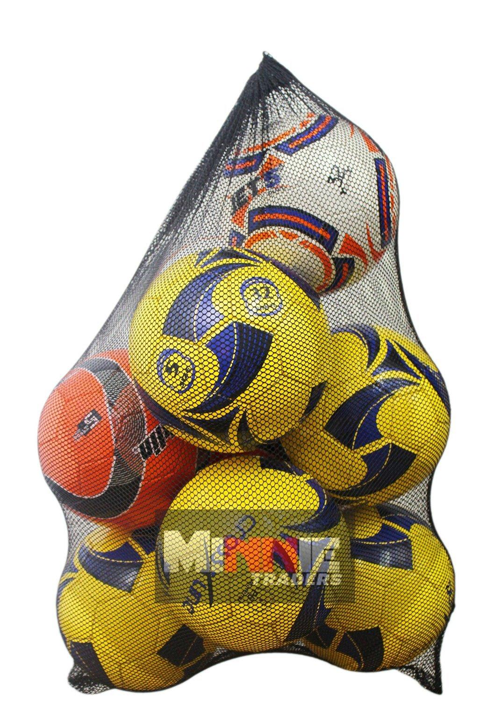 10 Ball Mesh Carry Sack Football/Netball Carry Bag Netbag with drawstring closure NNN