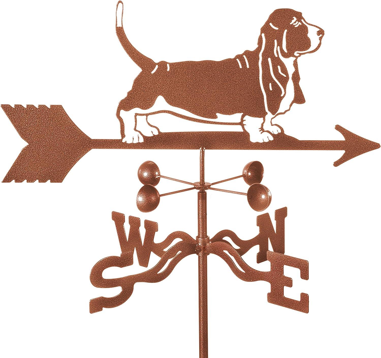 Basset Hound Dog Rain Gauge Garden Stake Weathervane