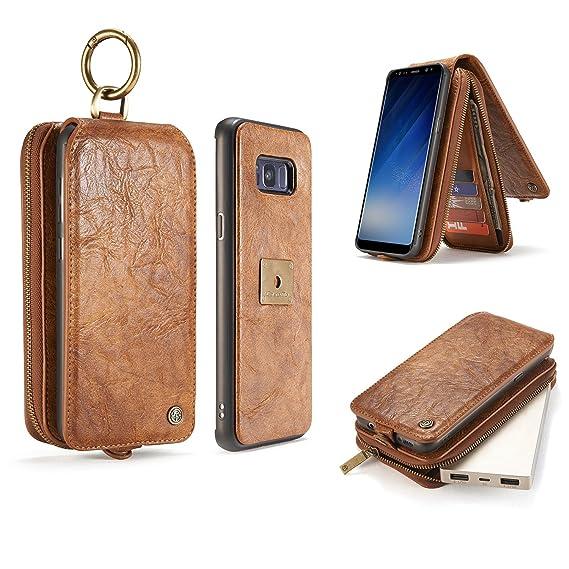 ca654f4e8d2 JIALUN-Caja del teléfono o cubierta Para Samsung Galaxy S8, estuche de  billetera de cuero con tapa trasera magnética para PC + TPU, estuche  desmontable, ...