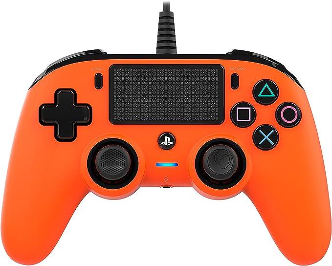 Nacon - Mando Compacto para PS4, color Naranja: Nacon: Amazon.es: Videojuegos