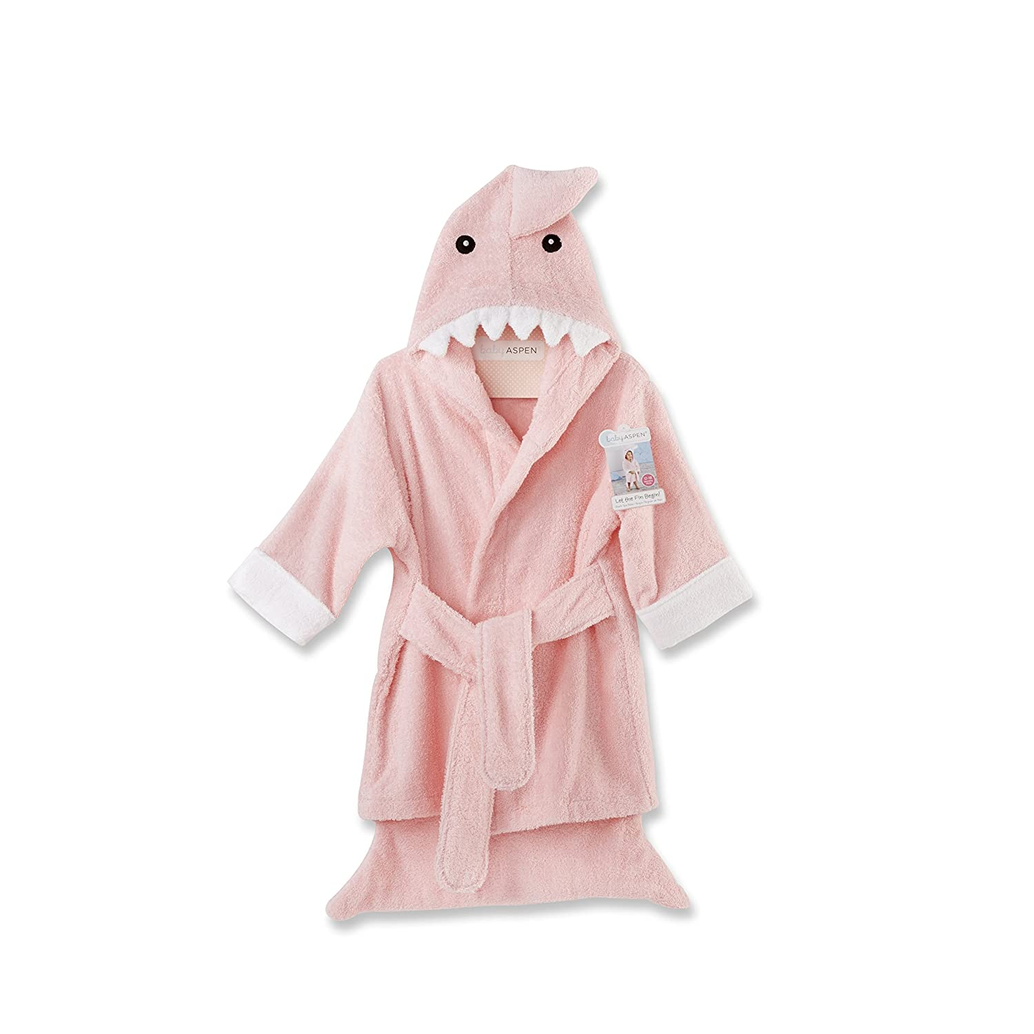 Baby Aspen Let The Fun Begin Pink Shark Robe, Pink, 12-18 Months