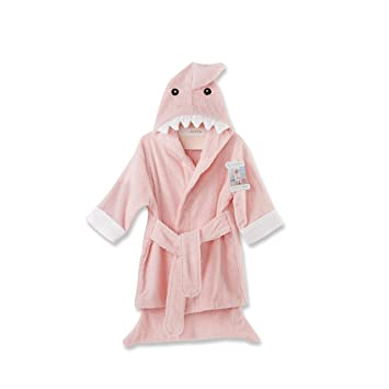 70cef9da9b Amazon.com   Baby Aspen Let the Fun Begin Pink Shark Robe