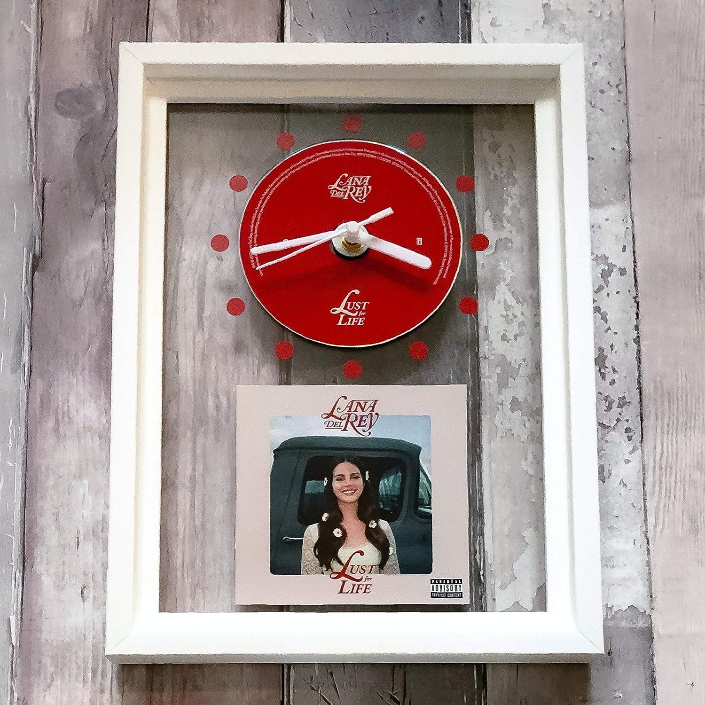 LANA DEL REY Lust For Life FRAMED CD ART CLOCK//Exclusive Design