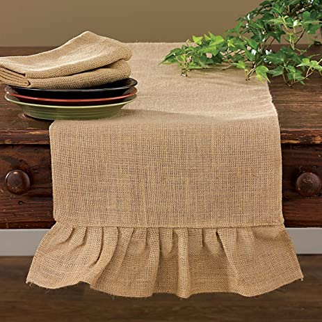 Shabby Country Jute Burlap Table Runner Kitchen Home Décor Accent 42