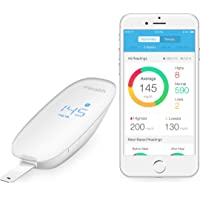iHealth Wireless Smart Glucometer for Apple and Android, Bluetooth Blood Glucose Meter And Monitoring System for Diabetes and Fitness, Comes With Lancing Device and 10 Lancets