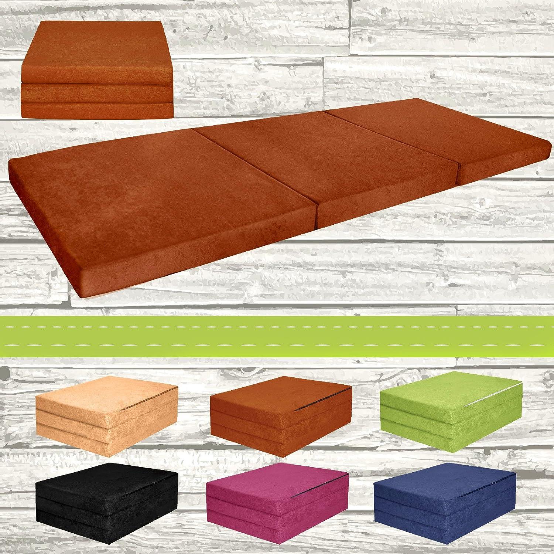 Matelas d'appoint pliant lit d'appoint lit d'invité futon pouf 195x80x9 cm couleur brun
