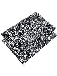 Shop Amazoncom Bath Rugs - Black and white tweed bath rug for bathroom decorating ideas