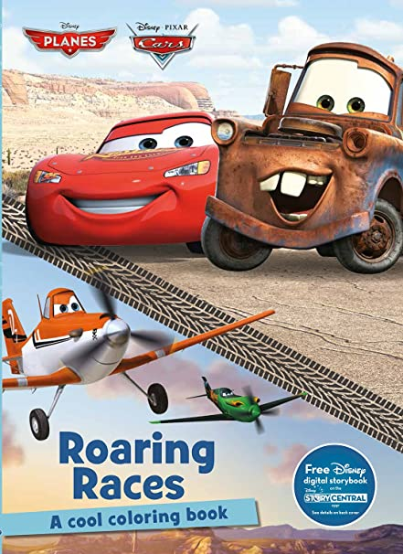 Amazon.com: Roaring Races Coloring Book (Disney Pixar Cars & Planes ...