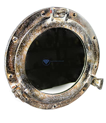 Amazon.com: Shipwrecked Artificially Rustic Vintage Ship\'s Porthole ...