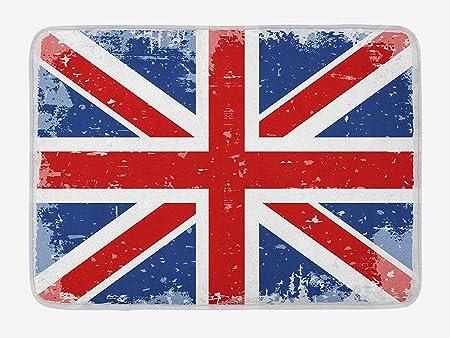 Kanaite Tapis De Bain Britannique Abstrait Angleterre