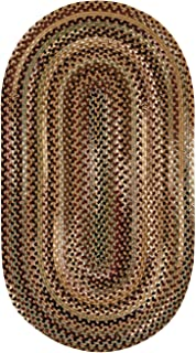 "product image for Capel Bangor Sandy Beige 5' 0"" x 8' 0"" Oval Braided Rug"