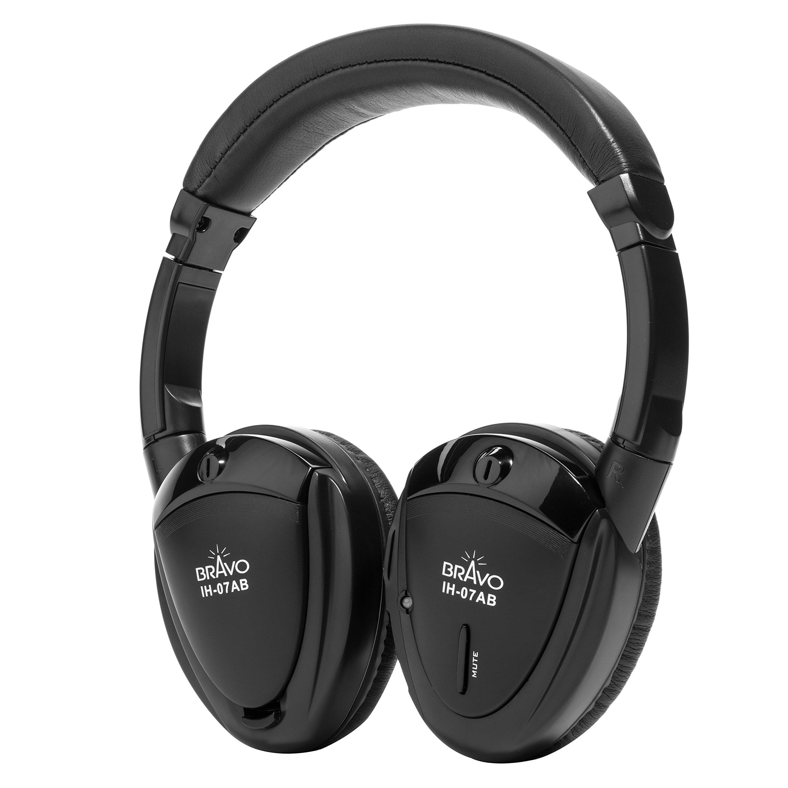 Bravo View IH-07AB - Dual-Source Automotive IR Wireless Headphones