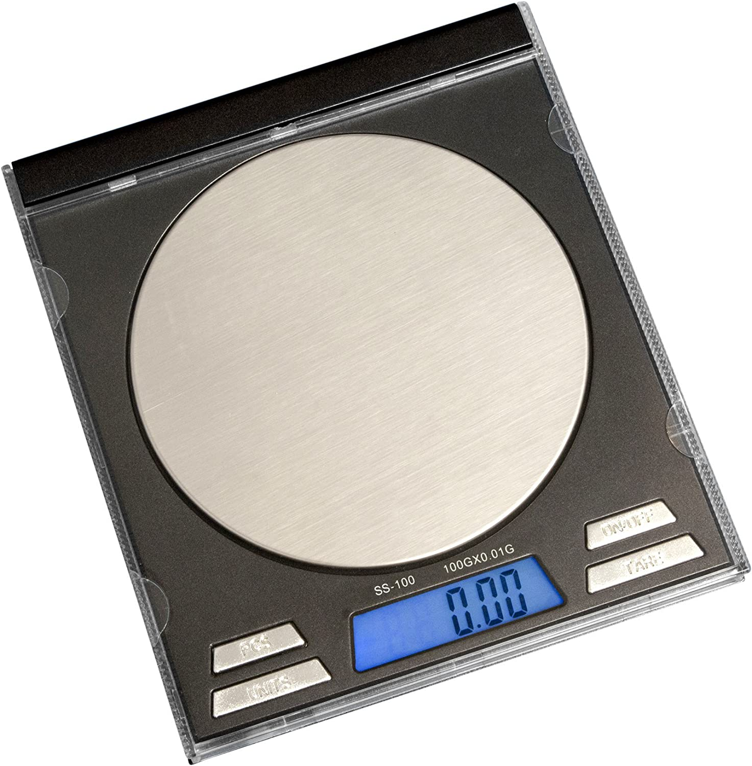 on balance square scale 100g x 0.01g