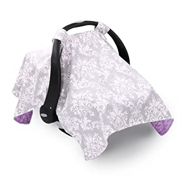 d28489646 Amazon.com  Grey Damask Infant Car Seat Canopy Cover by The Peanut ...