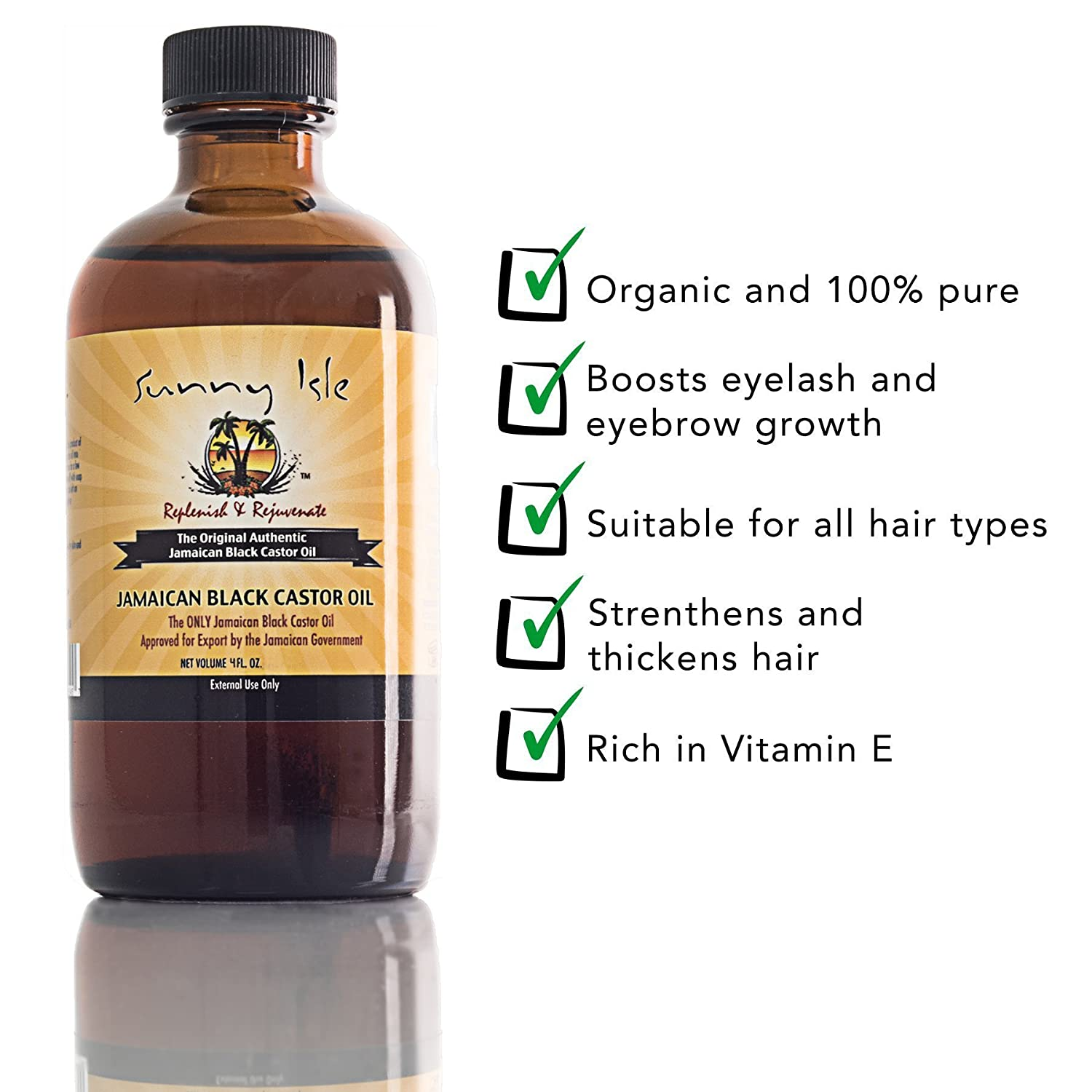 Jamaican Black Castor Oil With 10 Applicator Brushes Incredible
