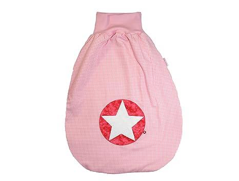 Saco de dormir Saco para bebé de 70 cm Cuadros Color Rosa Con Nombre bordado rosa