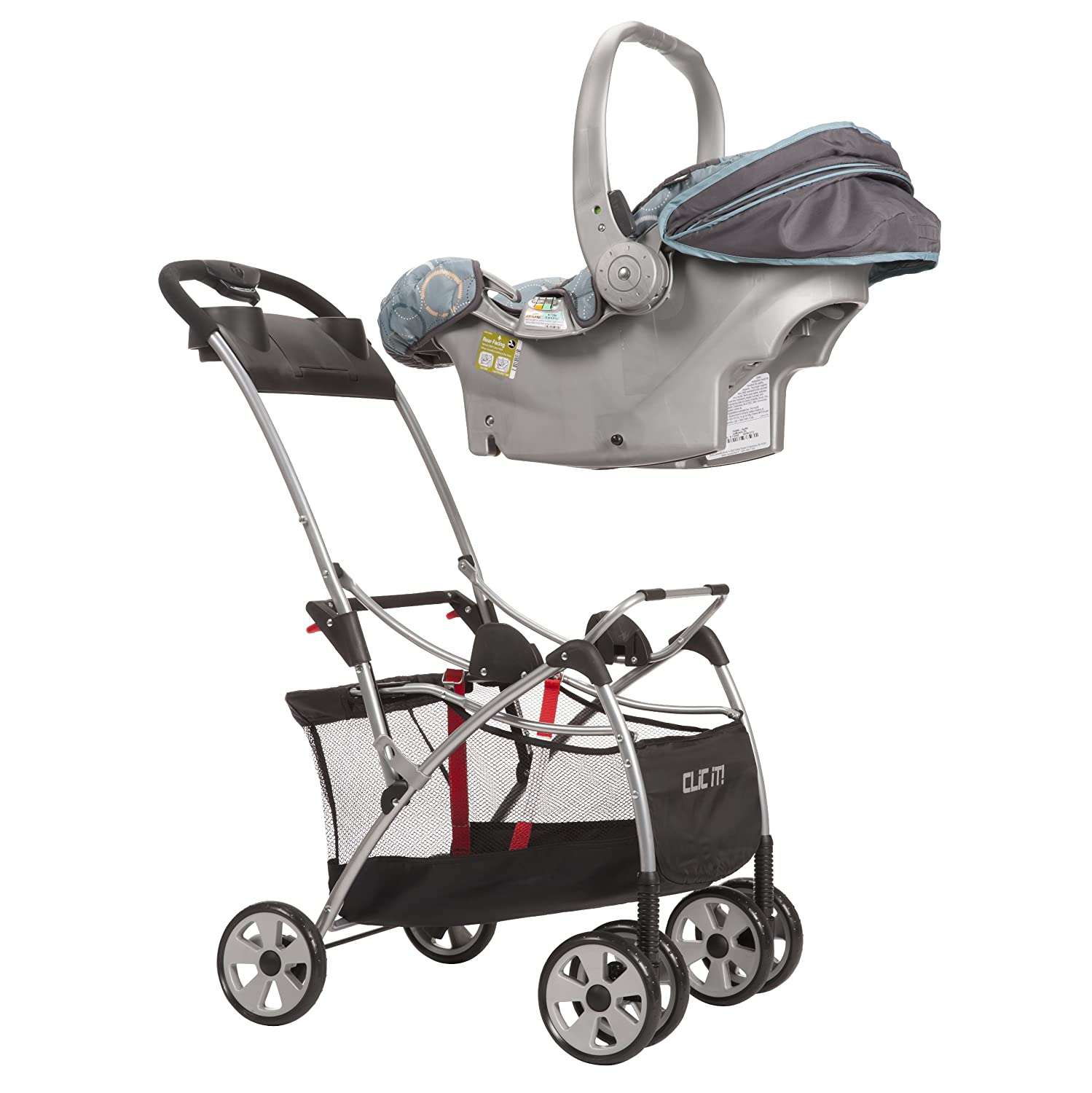Amazon.com : Safety 1st Clic It Infant Seat Carrier, Black/Silver ...