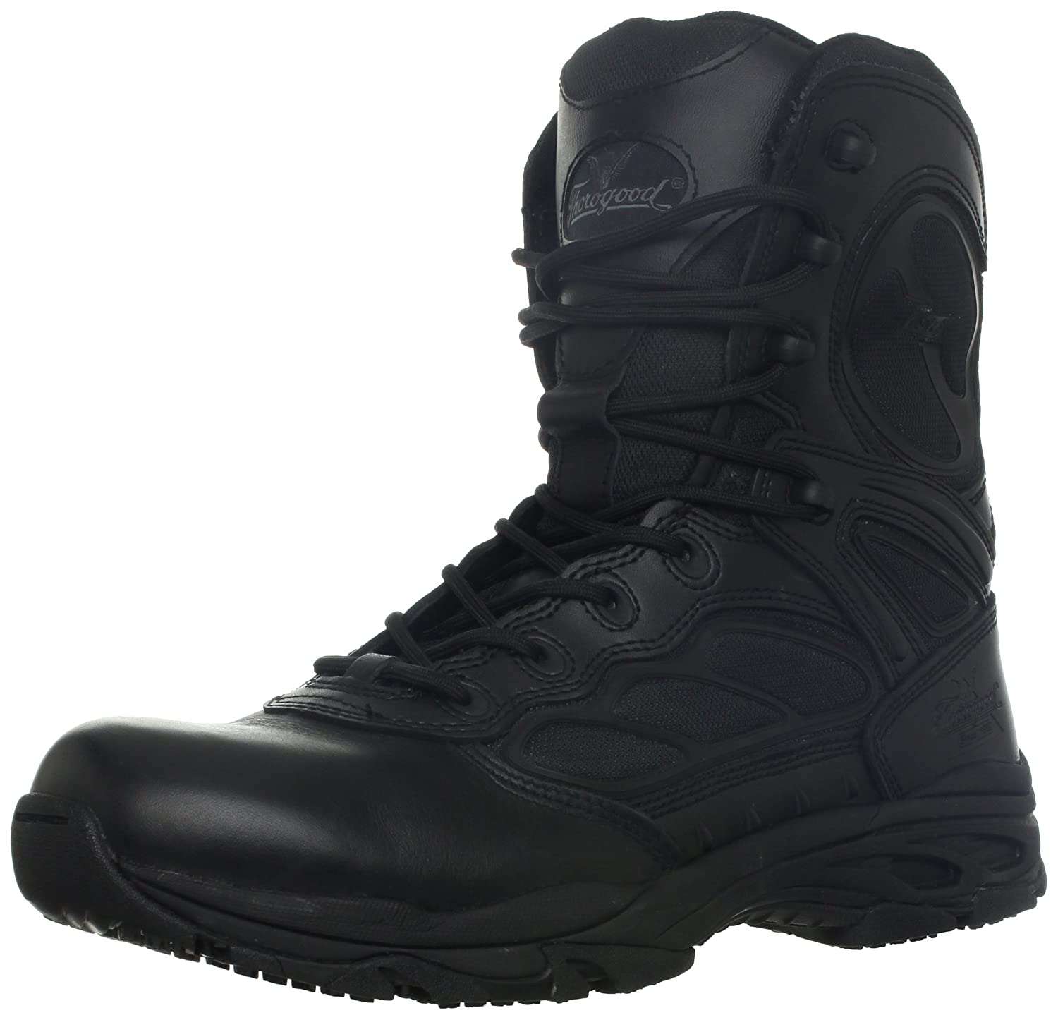 Thorogood メンズ B007KJBMII 10.5 D(M) US|Black/Leather Nylon Black/Leather Nylon 10.5 D(M) US