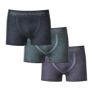 a5614fdb5dcd LAPASA Men's 3 Pack Chafe-Free Underwear - Seamless & SNUG-FIT - Boxer