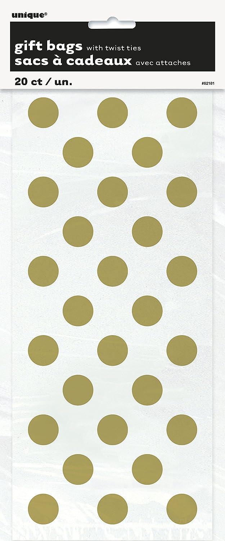 Unique Party Supplies Polka Dot Partyt/üten aus Zellophan 20/St/ück