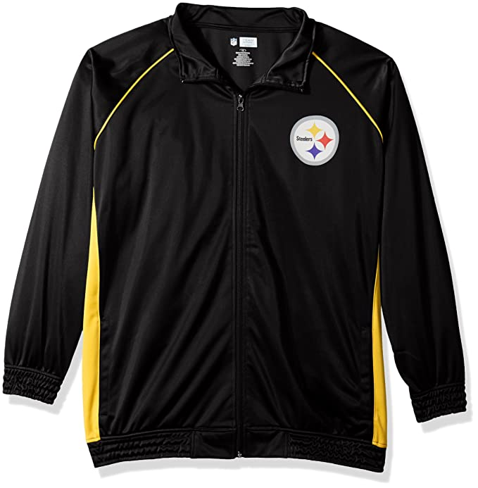 new product 9fbf0 75d98 Amazon.com : NFL Womens Steelers Poly Tricot Track Jacket ...