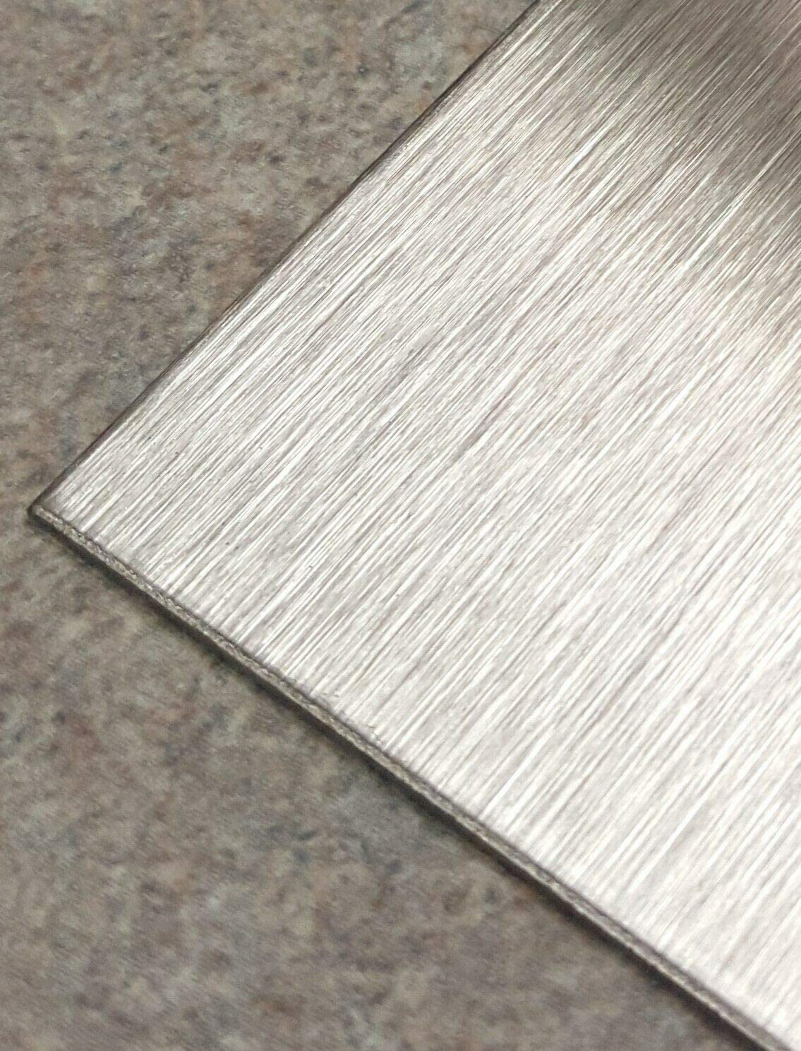 """11 Gauge Stainless Steel #4 Brushed 304 Sheet Plate 6/"""" x 6/"""""""