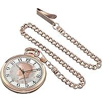 August Steiner Reloj de cuarzo cn012rg de los hombres Rose Gold Con Kennedy de la mitad Dólar Dial y Rose Gold Reloj de bolsillo