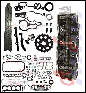 85-95 22R 22RE Toyota 2.4L Cylinder Head Gasket Set Timing Chain Kit