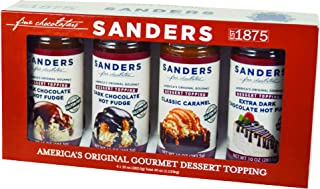 product image for Sanders Sundae Best Gourmet Dessert Topping Gift Box - All-Natural, 4 Flavor Assortment, 40 Ounce (Pack of 1)