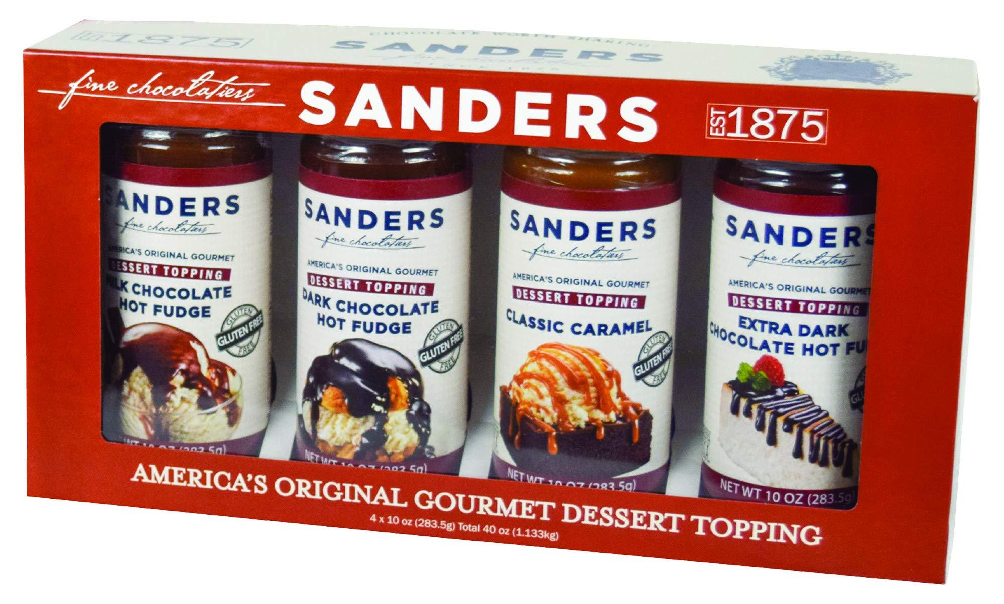 Sanders Sundae Best Dessert Gift Box - 4 All-Natural, Gluten Free Flavor Assortment - Certified Kosher, 40 oz. by Sanders