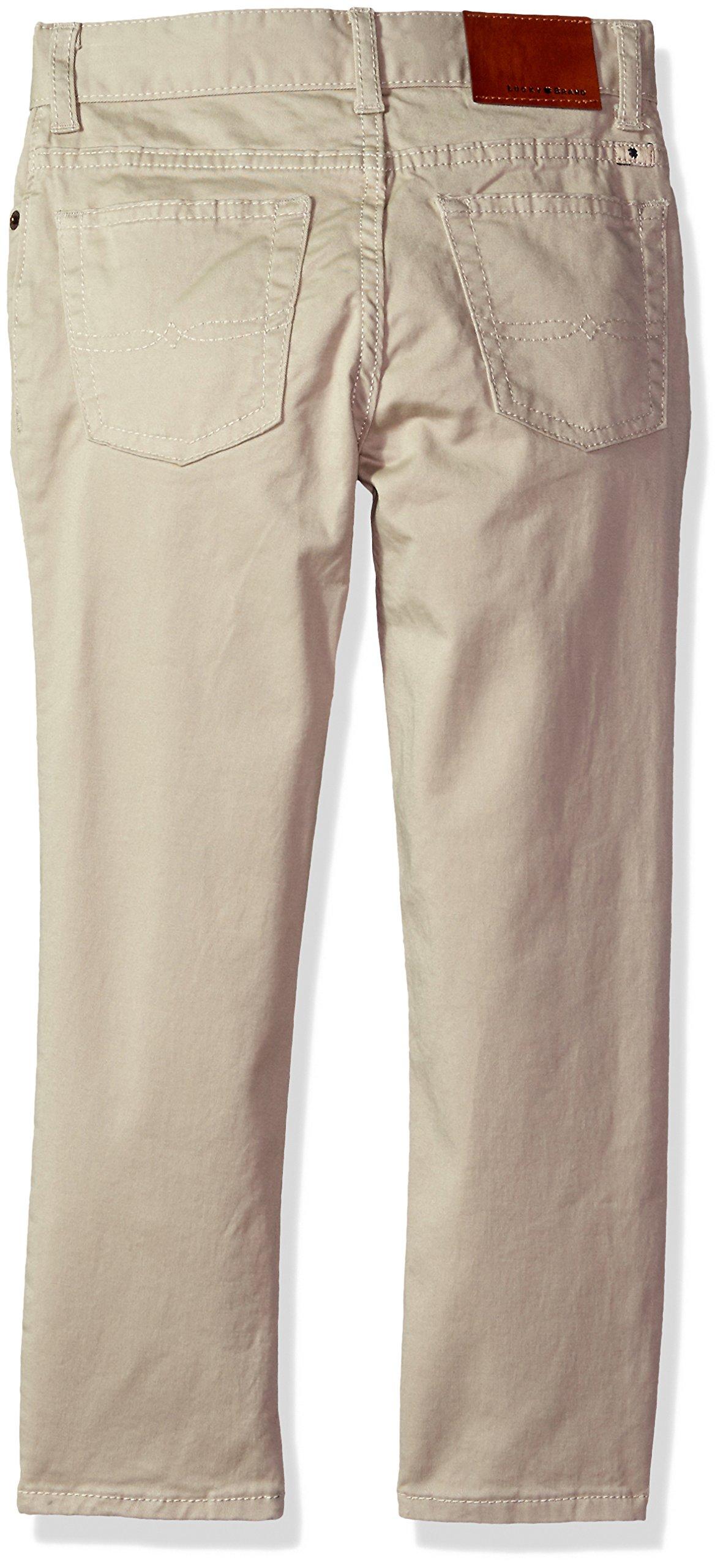 Lucky Brand Big Boys' 5 Pocket Stretch Twill Pant, Light Stone, 8 by Lucky Brand (Image #2)
